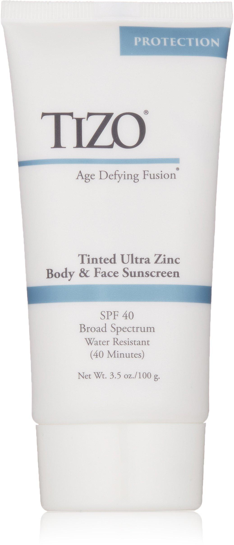 TIZO Ultra Zinc Body & Face Sunscreen Tinted SPF 40 , 3.5 oz by Tizo