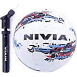Nivia Football Combo (Nivia Storm Football, Size 5 + Double Action Ball Air Pump)