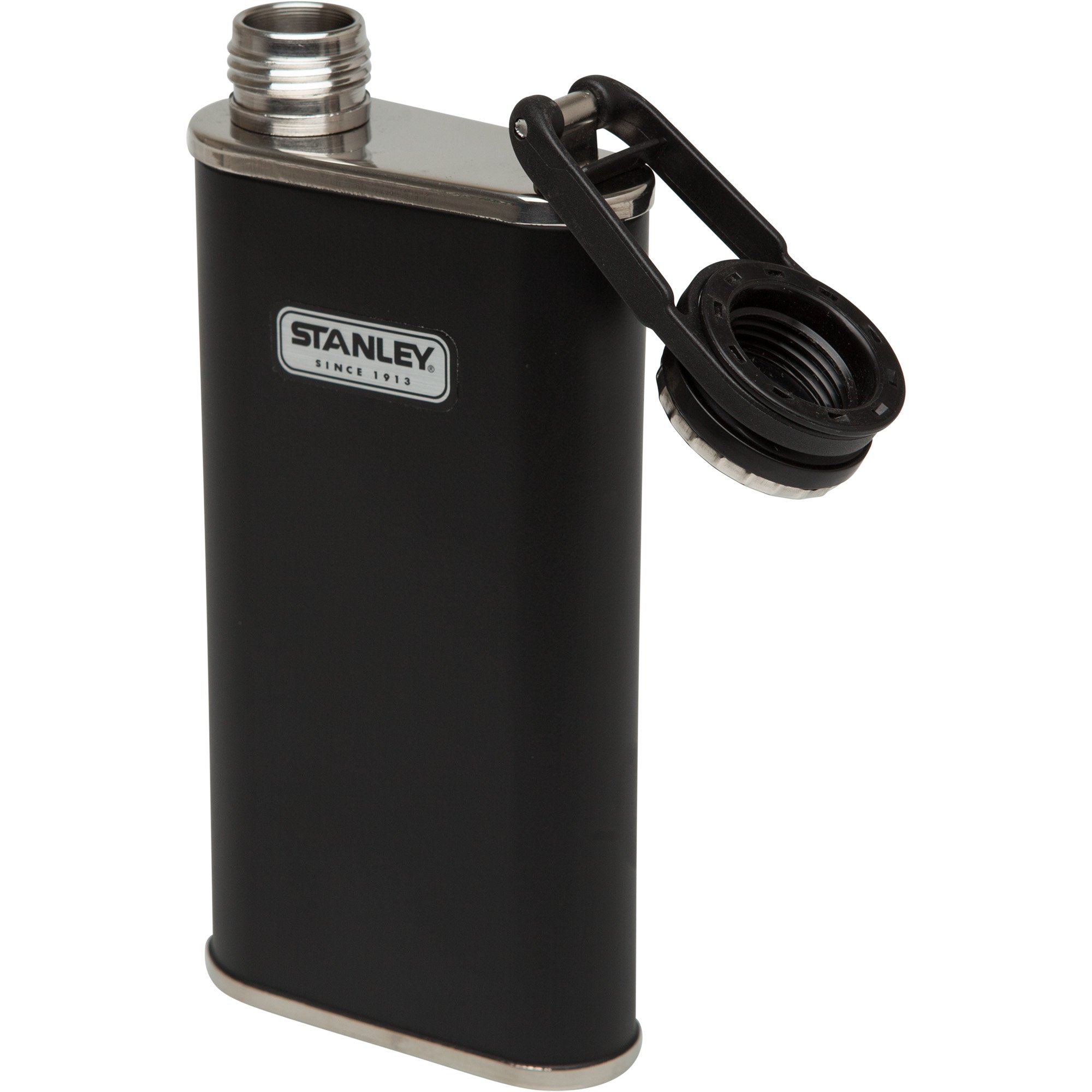 Stanley Classic Flask, Matte Black, 8 Oz by Stanley (Image #1)