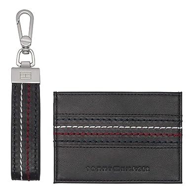 Tommy Hilfiger Corporate Stitch Cc Holder Keyfob Box Black