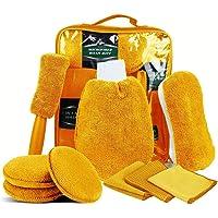 SaponinTree Autoreinigingsset, 9 stuks, autowasset met bandenborstel, washandschoenen, spons, waspads, multifunctionele…