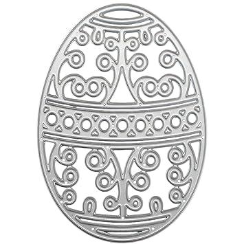 Acero al carbono huevo de Pascua repujado de corte matrices plantillas molde para bricolaje álbum de Scrapbooking arte tarjeta de papel: Amazon.es: Hogar