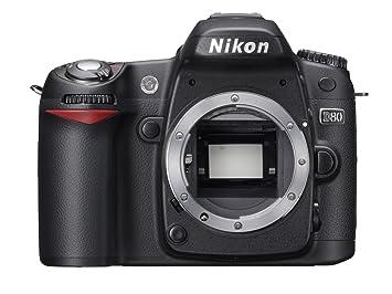 Nikon D80 Appareil photo numérique Reflex 10.2 Boîtier nu Noir ... 679810b09205