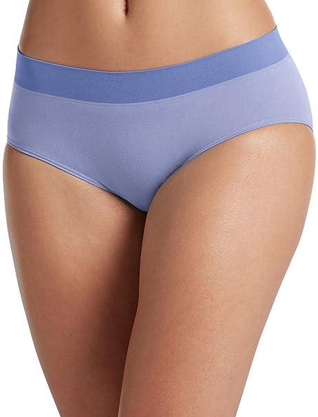 407d0e24e7af Jockey Women's Underwear Modern Micro Seamfree Hipster, Frosty Periwinkle,  ...