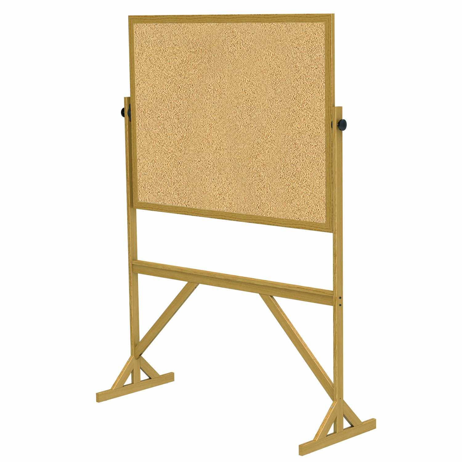 Ghent 72''x 531/4'' Wood Frame Reversible Natural Cork/Natural Cork - Made in the USA