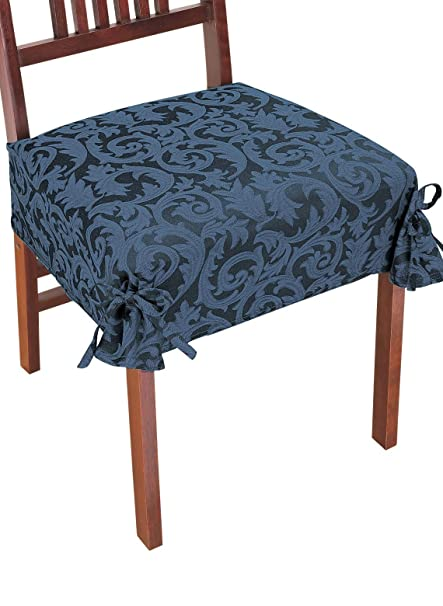 Exceptionnel Damask Chair Covers, Color Blue