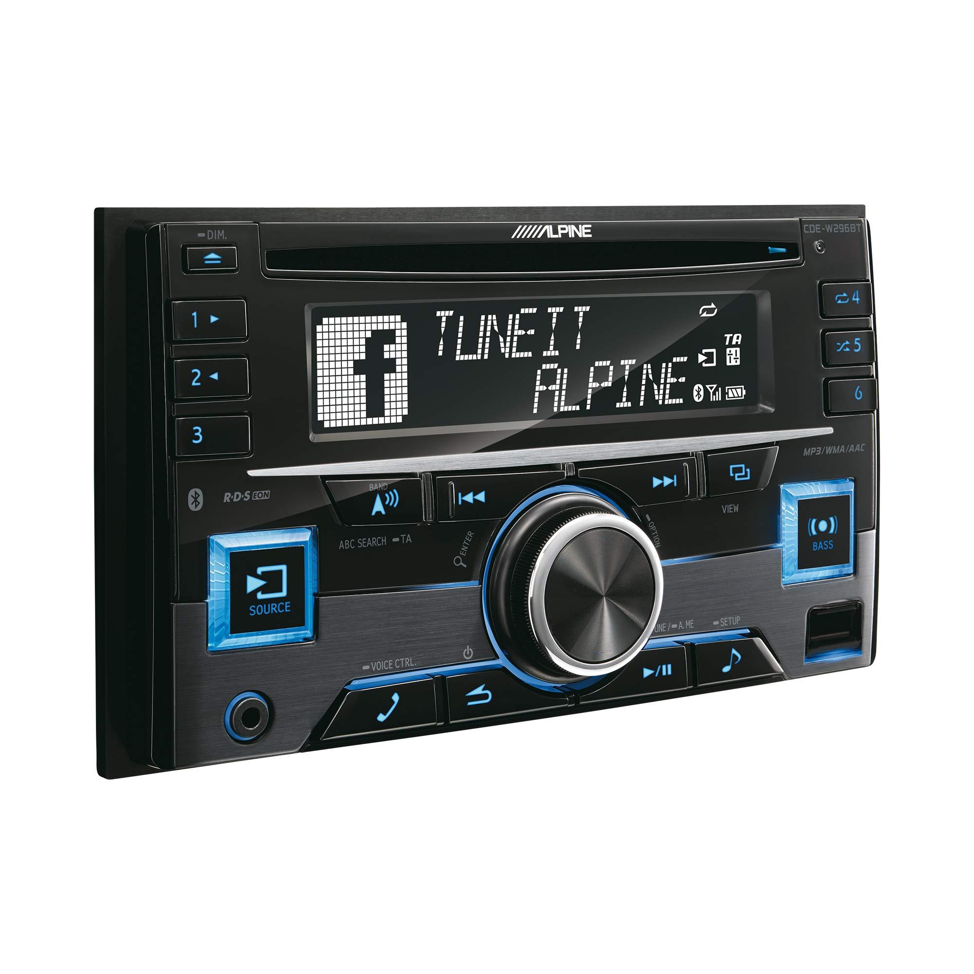 Alpine CDEW296BT Bluetooth 2Din Car Radio, Black