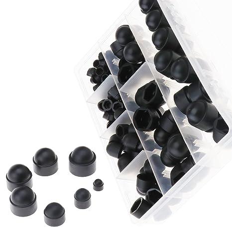 ENET 145 - Tuercas hexagonales y Pernos de plástico Negro Surtido M4 M5 M6 M8 M10