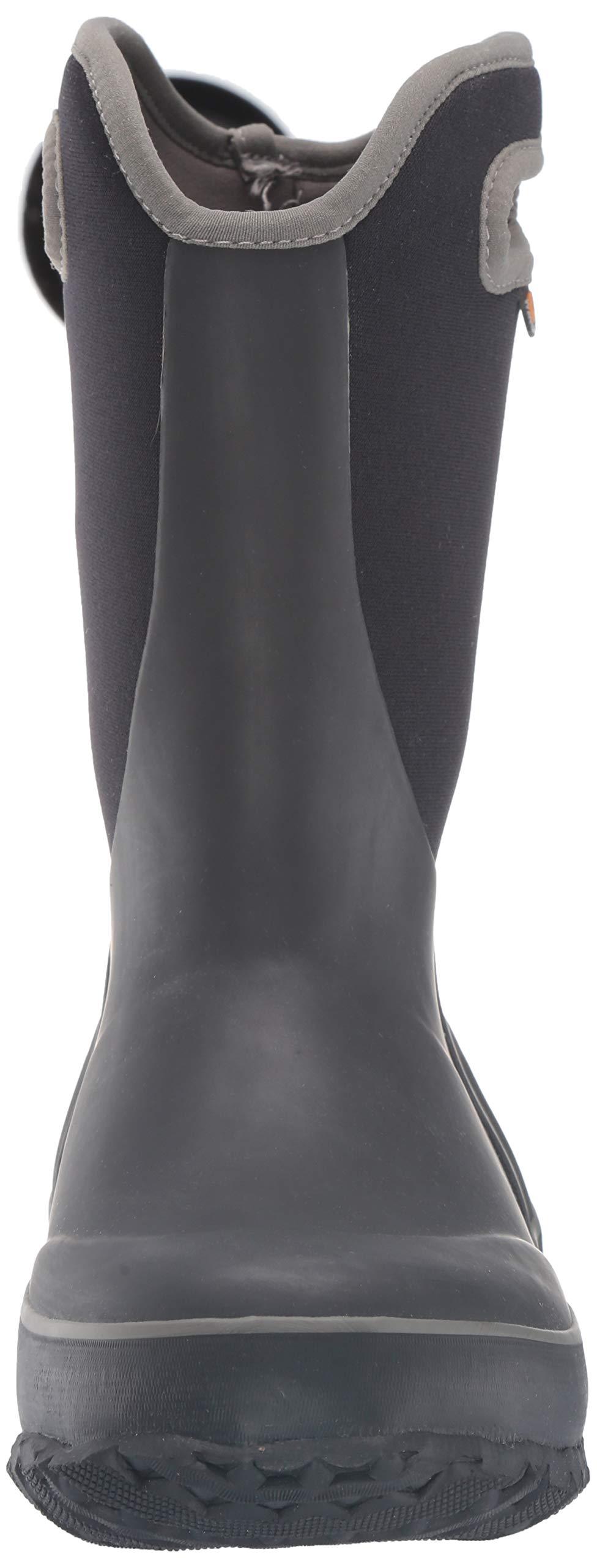 Bogs Unisex Slushie Snow Boot, Solid Black/Multi, 5 Medium US Big Kid by Bogs (Image #4)
