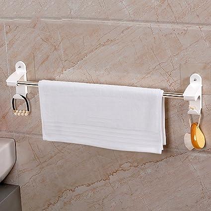 hj Rieles de la Toalla Suspensiones de baño de Acero Inoxidable Grueso Estantes de baño Colgantes