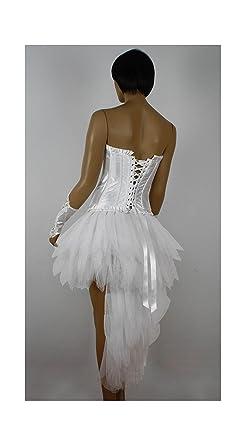 Burlesque Mardi Gras blanco Lolita falda bullicio Blanco blanco ...