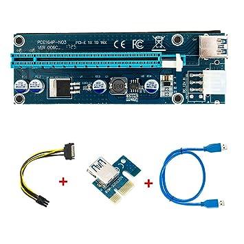 Amazon.com: happyyous 1 Paquete Tarjeta Riser PCIe con ...