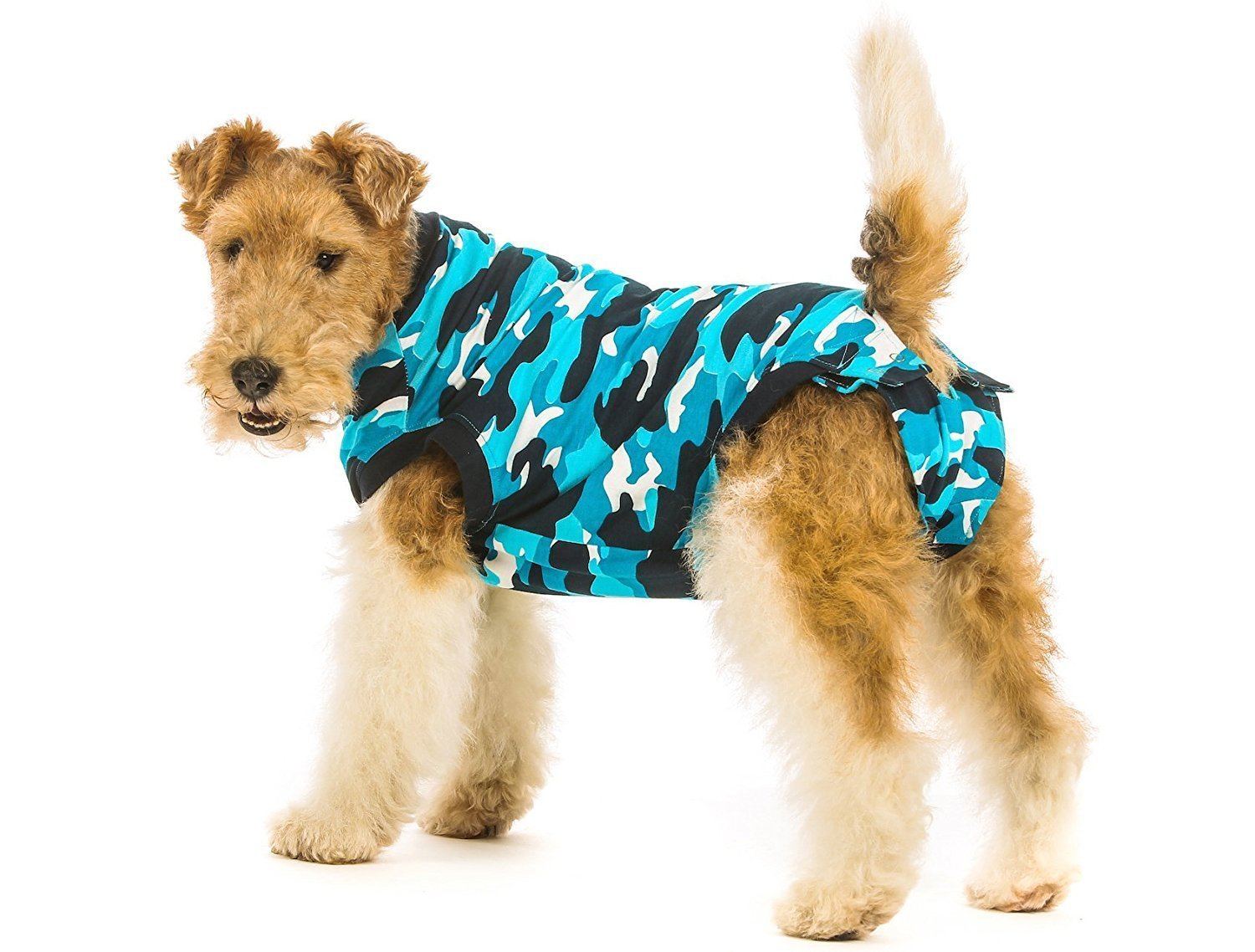 Suitical Recovery Suit Dog, Medium, Blue Camouflage: Amazon.co.uk ...