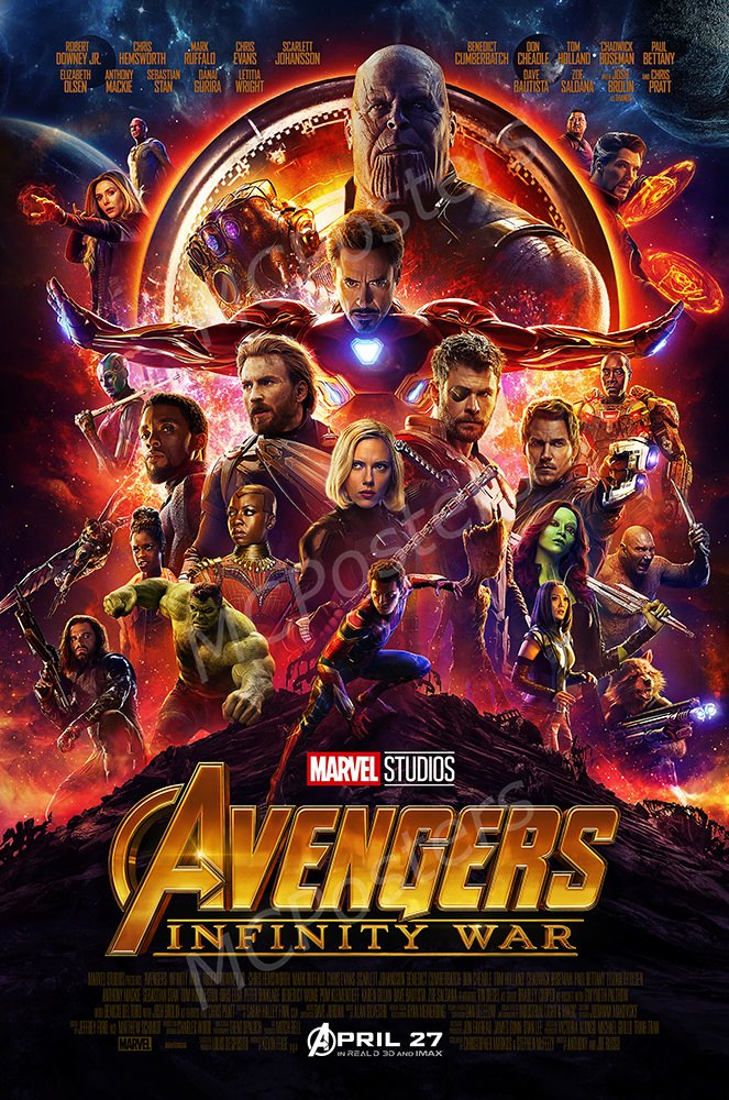 "MCPosters - Marvel Avengers Infinity War 2018 Movie Poster GLOSSY FINISH - MCP018 (24"" x 36"" (61cm x 91.5cm))"