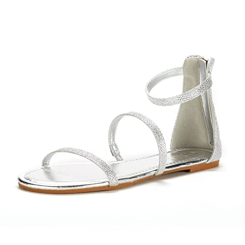 c8858ae4870d0 DREAM PAIRS Women's Athena_Low Gladiator Ankle Strap Fashion Flat Sandals