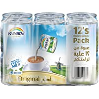 Rainbow Original Vitamin D Convenience Pack Evaporated Liquid Milk - 12 x 170 gm