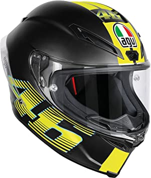 AGV Casco Moto corsa R E2205 Top plk, V46 Matt Black, ...