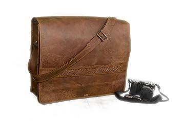 9c58ac87bb51 Amazon.com: Vintage Leather Bazaar Leather Large Briefcase Laptop ...