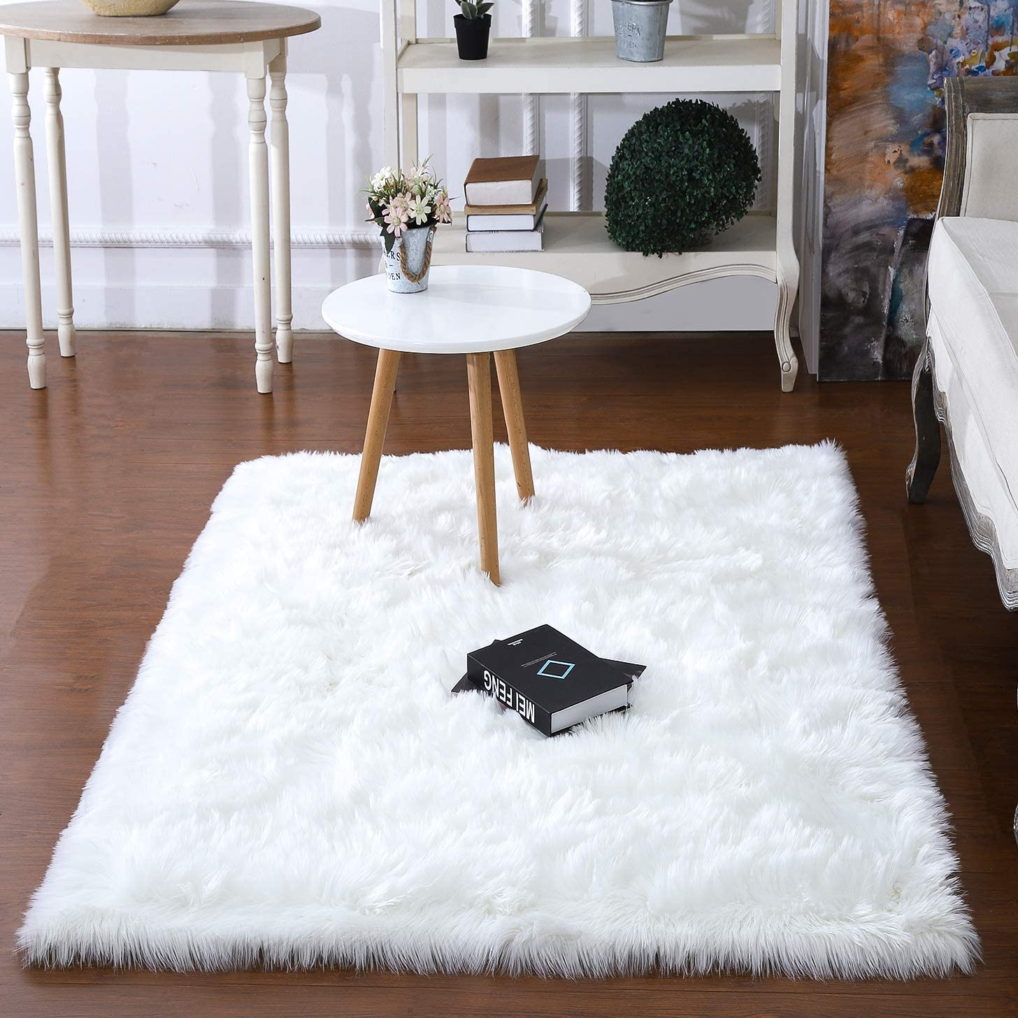 junovo Luxury Fluffy Area Rugs Furry Rug