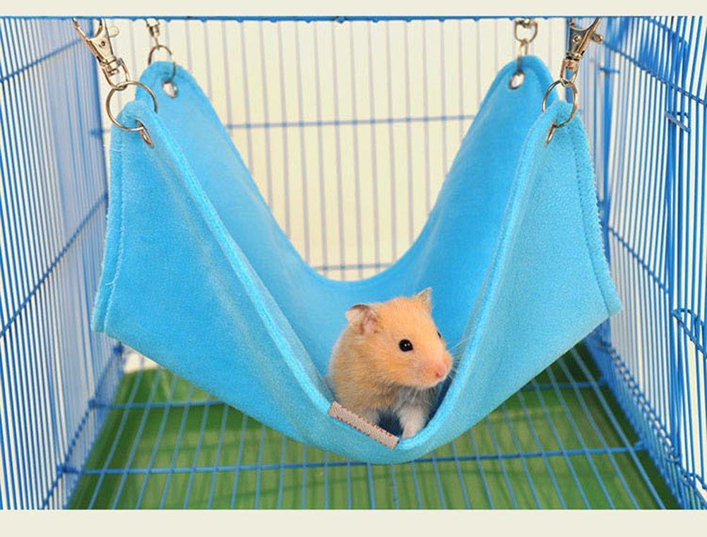 Keersi Hiver Chaud en Peluche Hamac balançoire à Suspendre Lit Nid Maison pour Animal Domestique syrienne Hamster Gerbille Rat Mouse Chinchillas écureuil Cochon d'Inde Cage pour Petit Animal Jouet