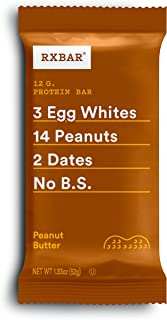 product image for RXBAR, Peanut Butter, Protein Bar, 1.83 Ounce (Pack of 24) Breakfast Bar, High Protein Snack