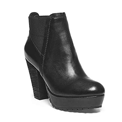 Womens Randaal Leather Platform Ankle Boots