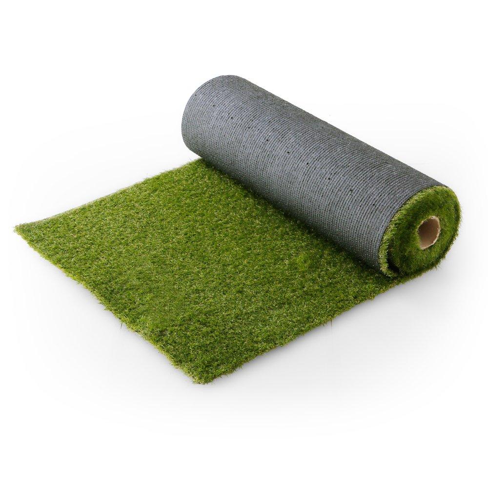 LOWYA (ロウヤ) 芝生 人工芝 4種のMIX葉 リアル ロール マット 長め毛足 3.5cm U字ピン付 幅1m×5m フレッシュグリーン B019RKT62G 25990 幅1m×5m フレッシュグリーン フレッシュグリーン 幅1m×5m