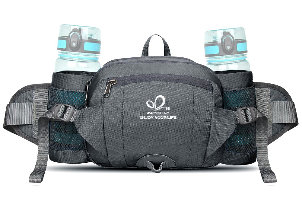 Riñonera Running, Waterfly Riñonera Deportiva Impermeable, Tiras Reflectantes y Correa Ajustable para Deportes o Viaje al Aire libre, Azul