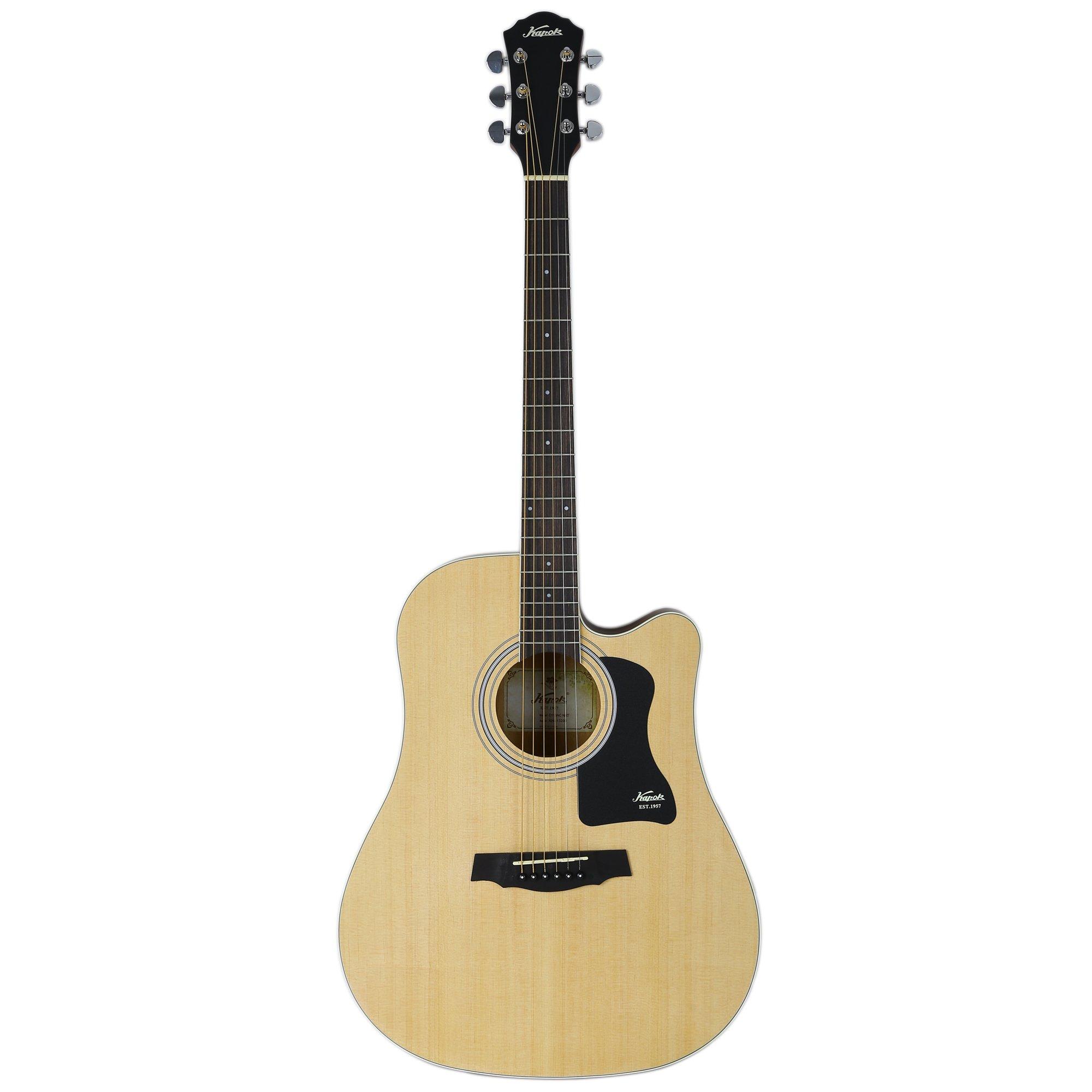 "KAPOK AZ-D218NAT 41"" Full Size Dreadnought Cutaway Acoustic Guitar - Natural"