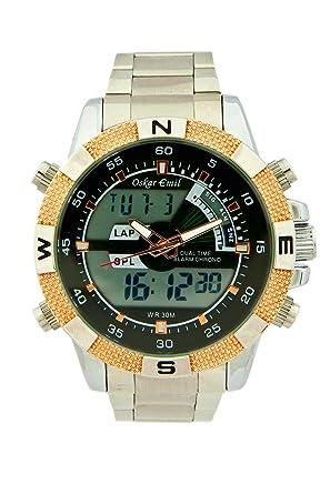 oskar emil rose gold ranger sports quartz watch for men lcd oskar emil rose gold ranger sports quartz watch for men lcd dial analogue digital