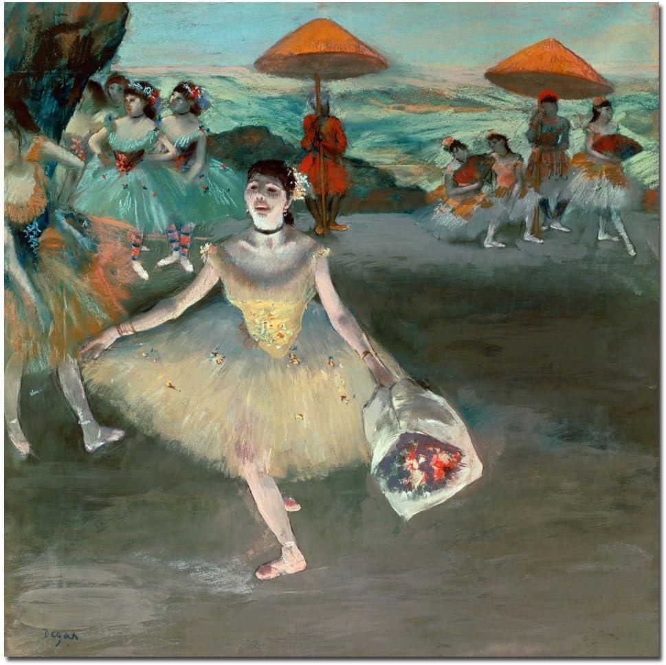 Edgar Degas Fine Art Print Degas Poster Degas Wall Art Housewarming Gift Idea Degas Art Print Dancer With A Bouquet Of Flowers 1878