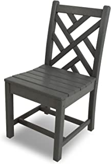 product image for POLYWOOD CDD100GY Chippendale Dining Side Chair, Slate Grey