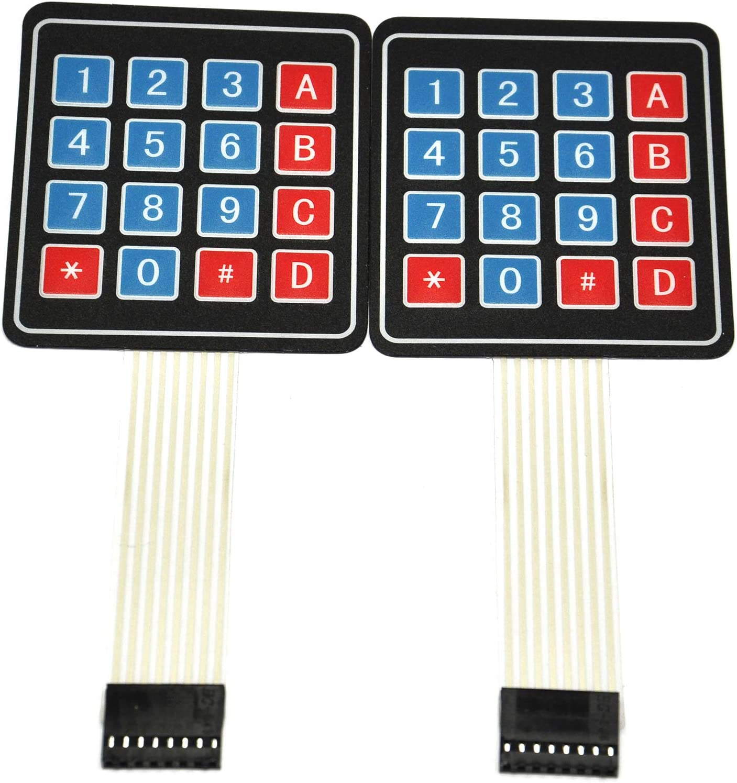 Gikfun 4x4 Matrix 16 Key Membrane Switch for Arduino Pack of 2PCS EK1052C