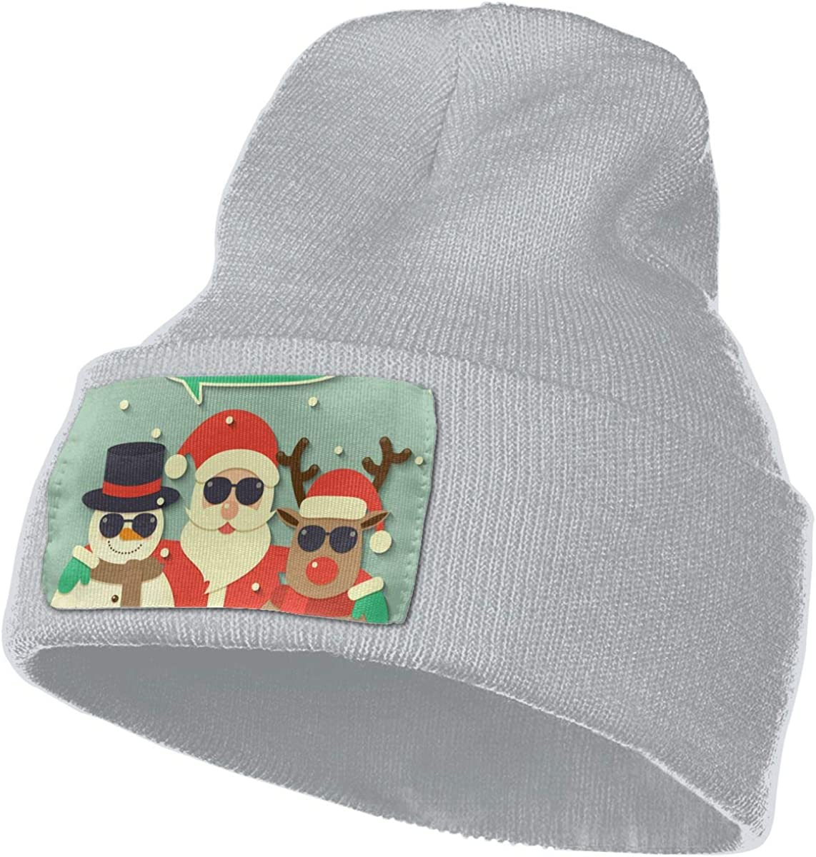 JimHappy Merry Christmas Santa Hat for Men and Women Winter Warm Hats Knit Slouchy Thick Skull Cap Black