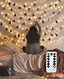 LECLSTAR Photo Hanging Clips String, 50 LED Photo Clips String Lights 17ft Photo String Lights with Clips, 8 Modes Fairy…