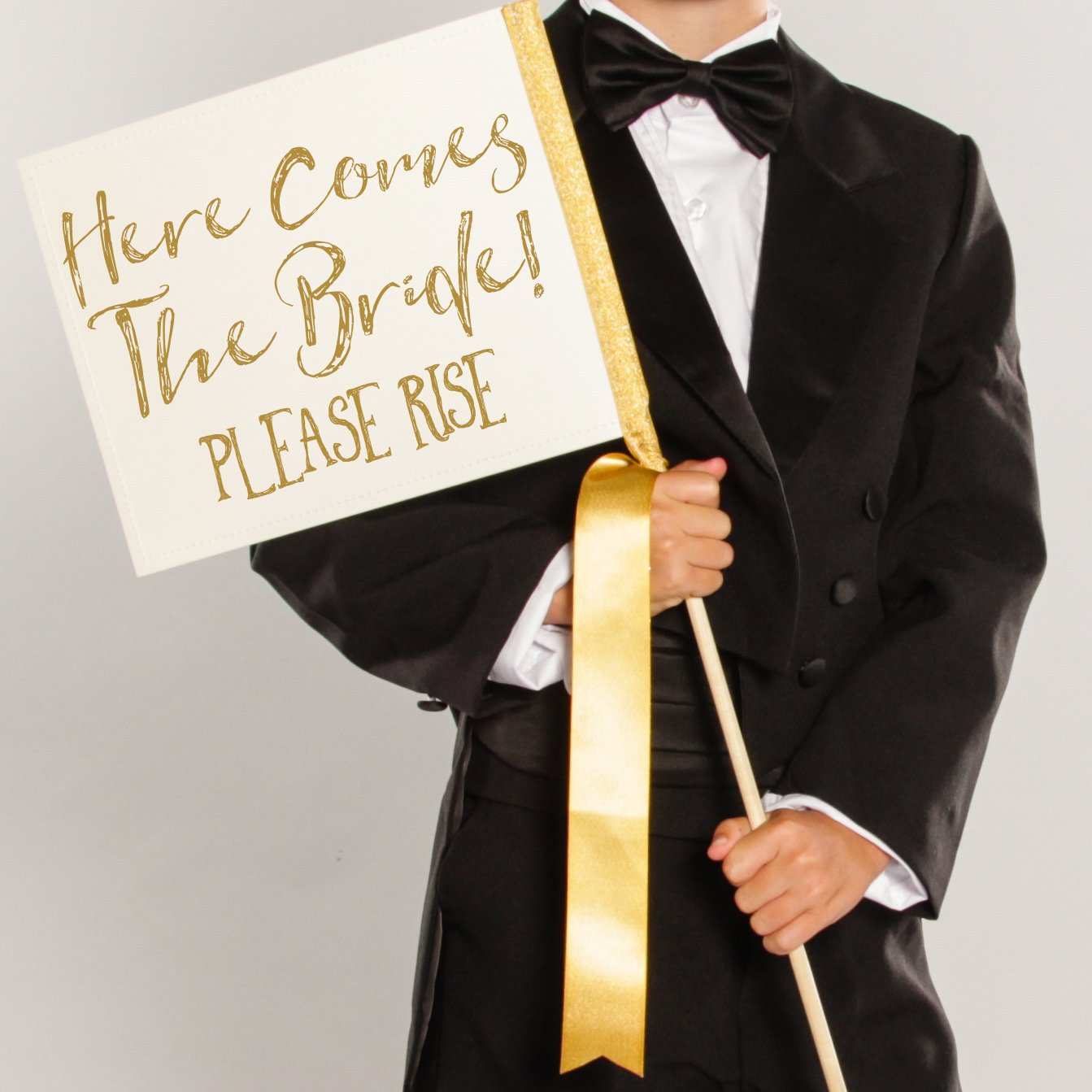 Here Comes The Bride Please Rise Wedding Sign for Ring Bearer or Flower Girl