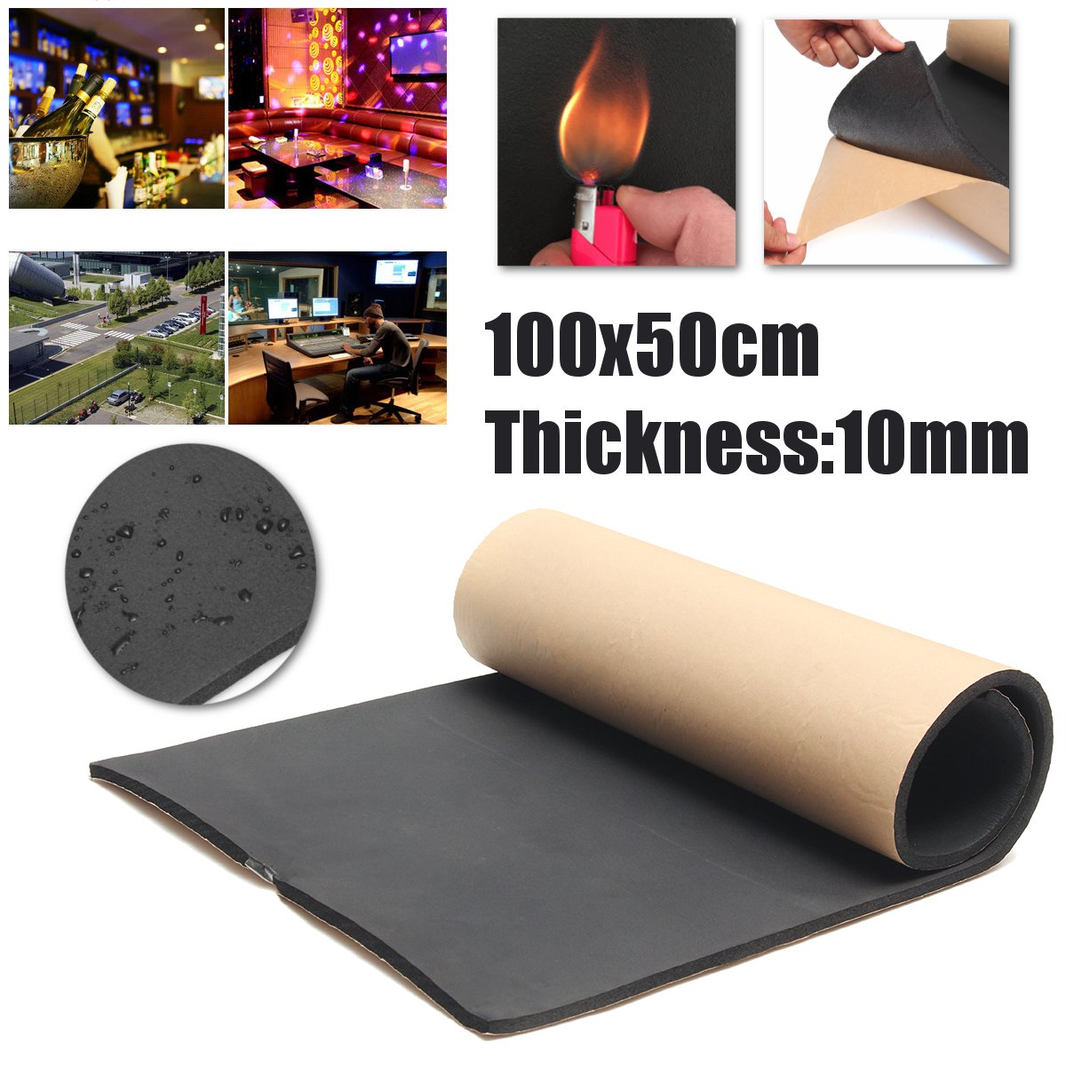 Jeteven 1m x 50cm High Density Foam Rubber Padding Roll Self Closed Cell Foam Waterproof Soundproof Insulation Thermal Foam Car Sound Deadening Mat 1m by Jeteven (Image #7)