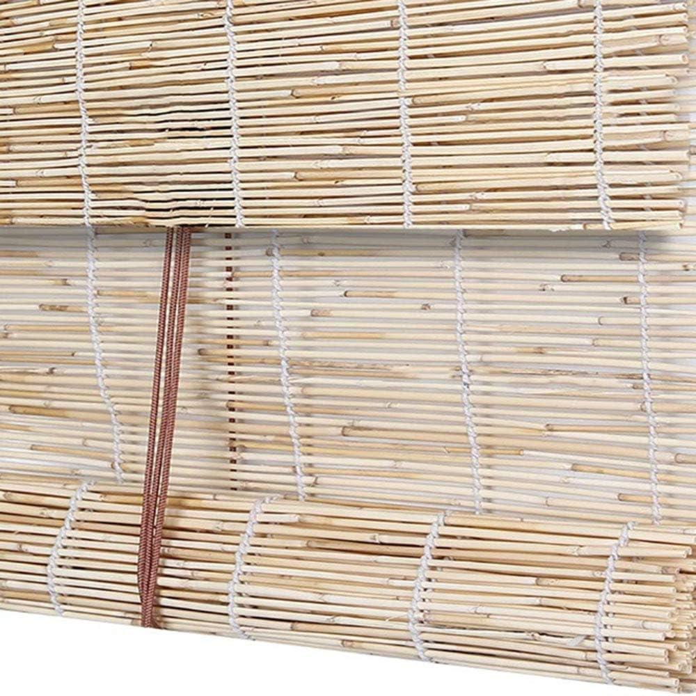 Zlovne Rideau de Roseau Naturel de Carbonisation,Rideaux en Roseau Stores Enrouleurs,Tiss/és /À La Main,Stores en Bambou,Rideaux Occultants Respirant,D/écoration de Partition 50x60cm//20x24in