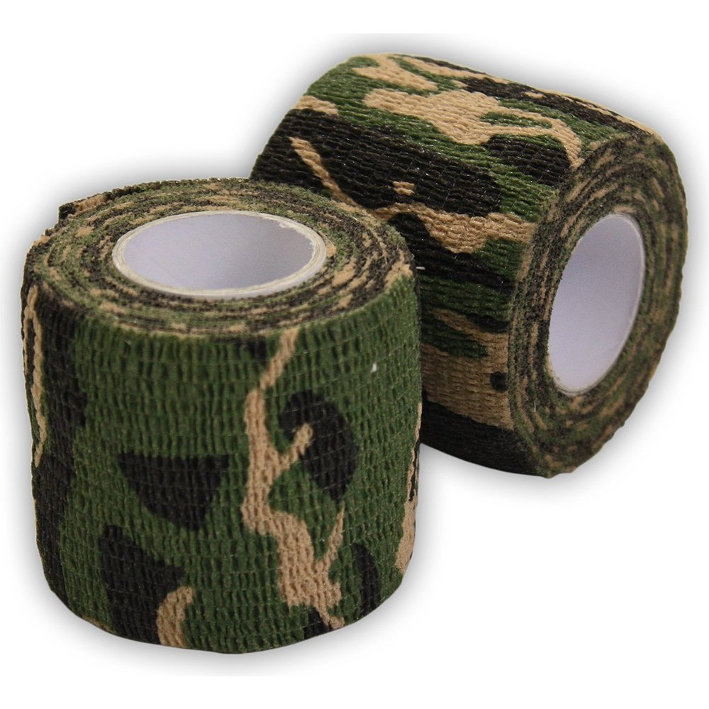 Ndier Rotolo di Nastro Camouflage, Nastro Autoadesive di Camuffamento Caccia e Mimetico Camouflage Tape Riutilizzabile, 5cm x 4.5m Camuffamento della Giungla