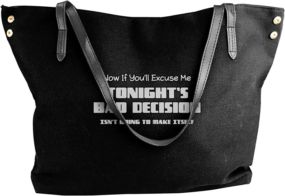 Now If Youll Excuse Me Handbags Shoulder Bag Tote Bag Travel Womens Canvas Bag