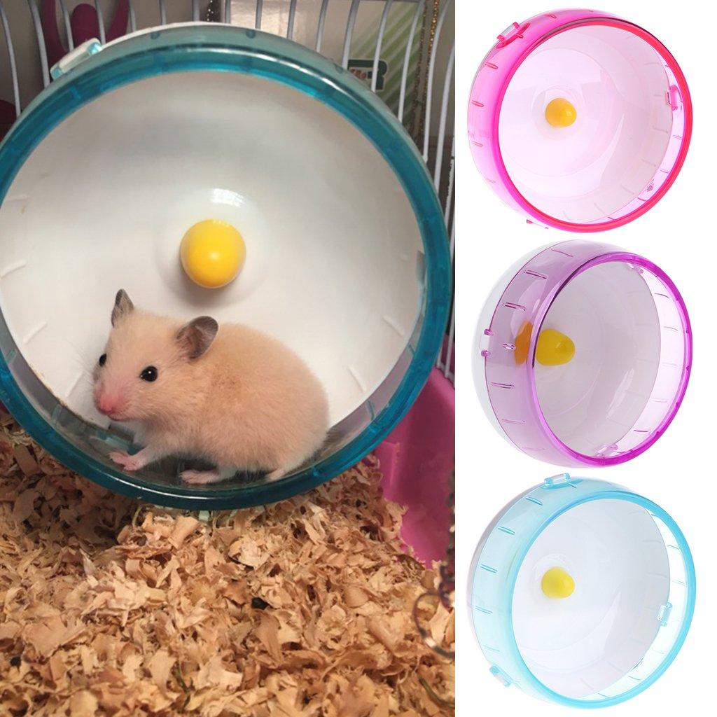 Biniwa–1pcs Plastique Silencieux de Spinner Roue Jouet, pour Petit Animal Domestique Hamster Souris Rat Exercice Jouets