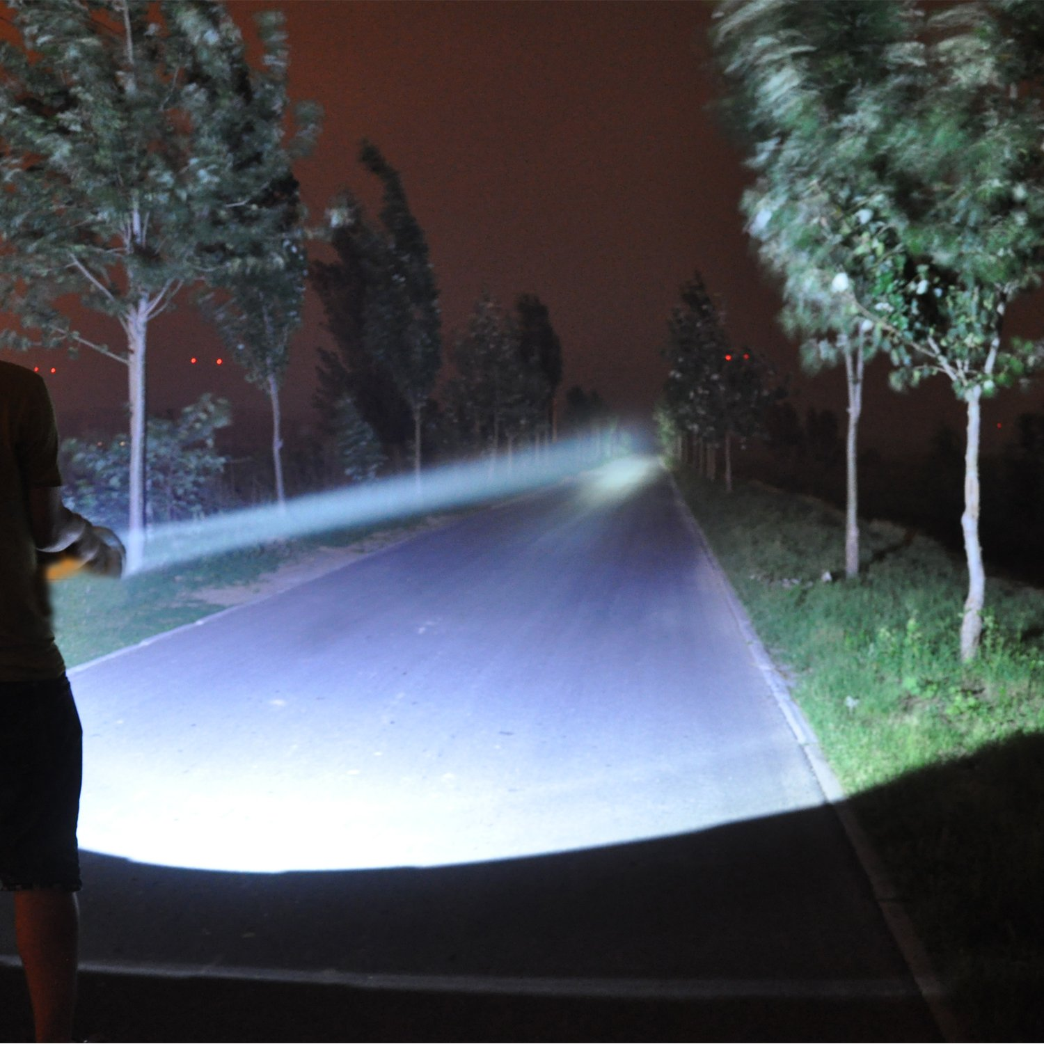 Odear Super Bright Rechargeable Searchlight Handheld Spotlight Led for outdoor