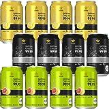 サッポロ 99.99<フォーナイン&gt3種類飲み比べセット クリアレモン クリアドライ クリアグレープフルーツ アルコール9% [ チューハイ 350ml×12本 ]