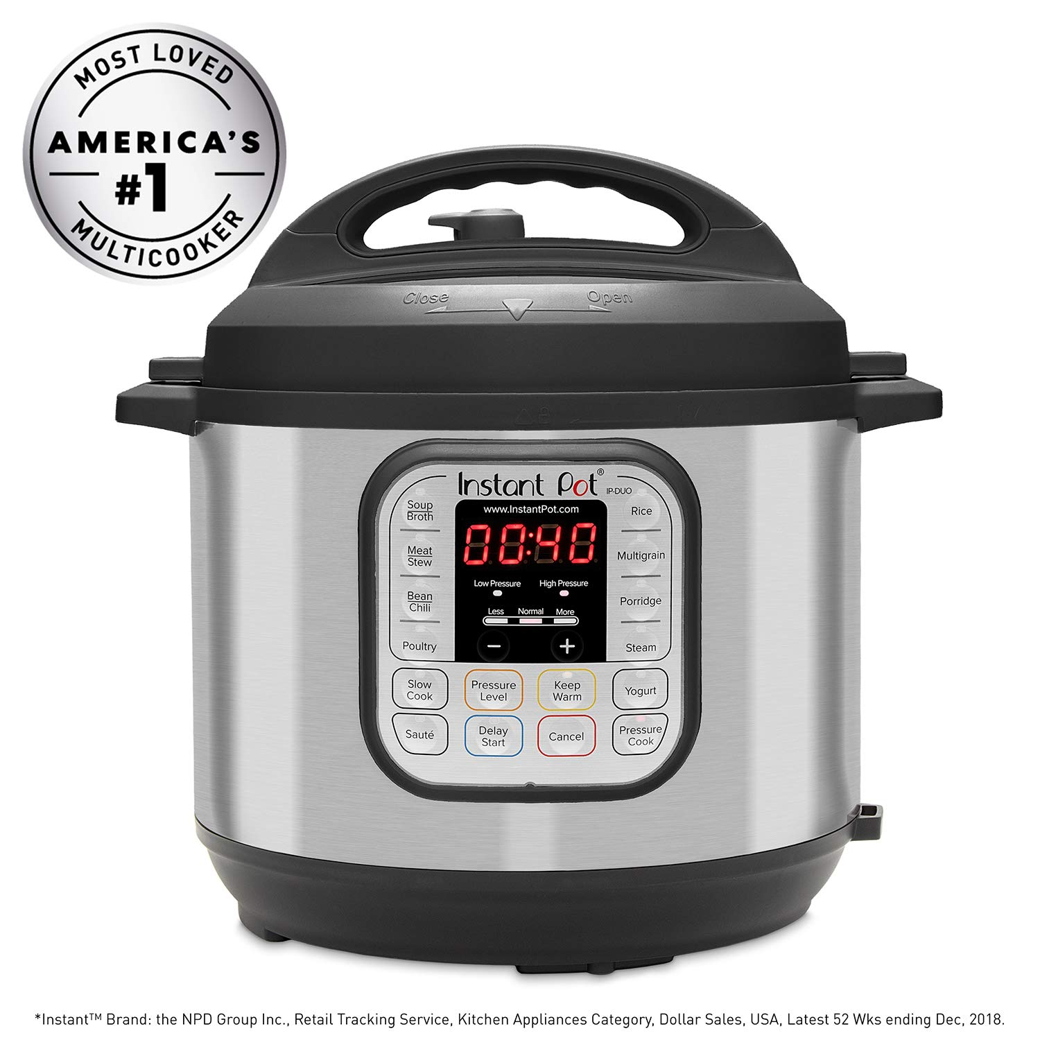 Instant Pot DUO60 6 Qt 7-in-1 Multi-Use Programmable Pressure Cooker, Slow Cooker, Rice Cooker, Steamer, Sauté, Yogurt Maker and Warmer by Instant Pot