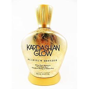 Kardashian Glow (Platinum) Indoor Tanning Lotion Paraben, Hemp, Gluten Free 13.5 Ounce