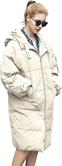Femmes Manteau d'hiver Vert Long Puffer Down Veste