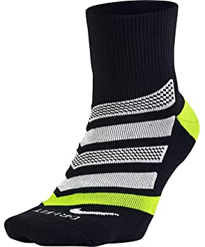 Nike Running Dri Fit Cushion D Calcetines, Hombre, Negro (Black/Volt/White), M: Amazon.es: Deportes y aire libre