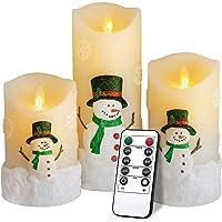 Leepesx 6 12Pcs Candele Tealight Senza Fiamma della Lampada a LED elettrica per la Decorazione della Festa Nuziale di Compleanno a casa