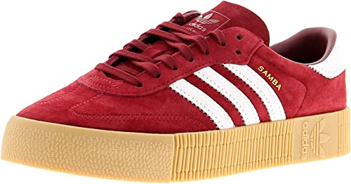 adidas Originals Sambarose Womens Trainers Shoes - Burgundy Red