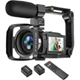 ZUODUN 4K Camcorder 60FPS Ultra HD Vlogging Video Camera for YouTube 48MP 16X Digital Zoom IR Night Vision WiFi Vlog Recorder